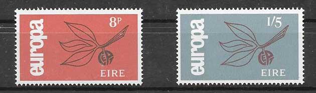 Sellos Tema Europa Irlanda 1965