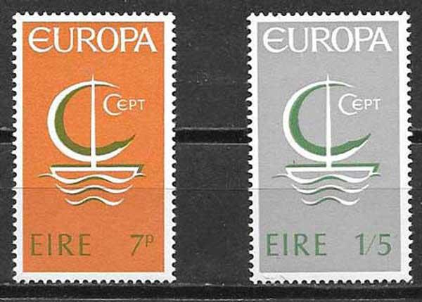 sellos Tema Europa Irlanda 1966