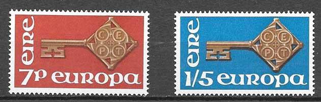 Filatelia Tema Europa Irlanda 1968