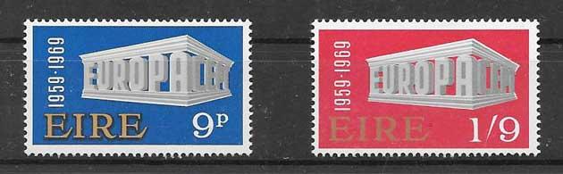 FilateliaTema Europa Irlanda 1969