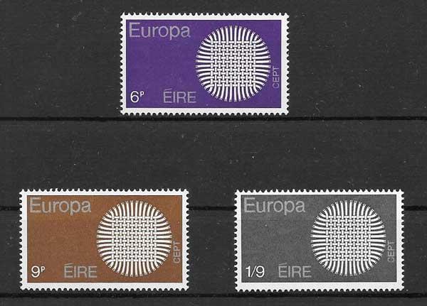 Filatelia colección Irlanda 1970