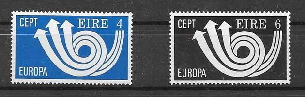 Sellos Tema Europa Irlanda 1973