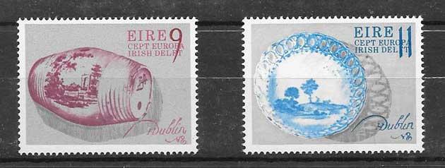 Sellos Tema Europa Irlanda 1976