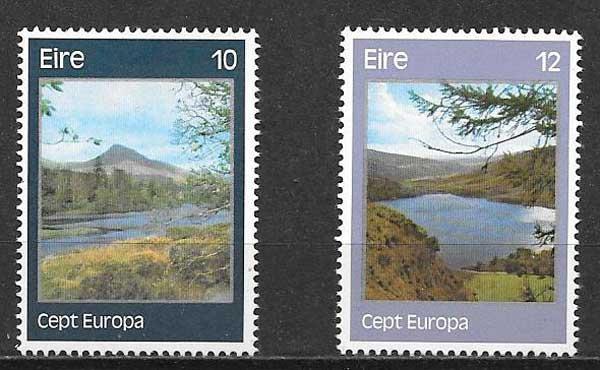 Colección sellos Tema Europa Irlanda 1977