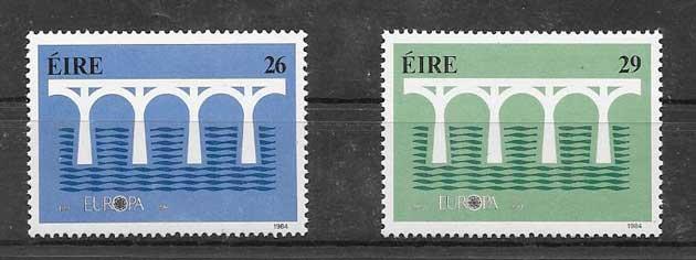 Sellos Tema Europa Irlanda 1984