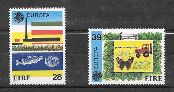 Colección filateliaTema Europa 1986