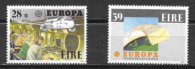 colección sellos Tema Europa Irlanda 1988