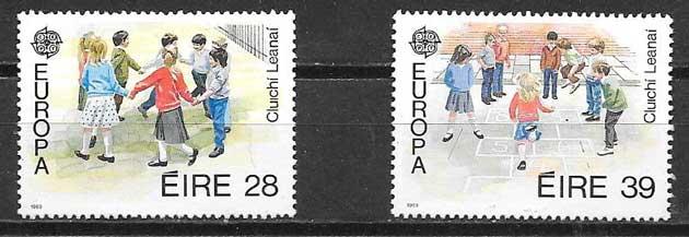 colección sellos Tema Europa Irlanda 1989