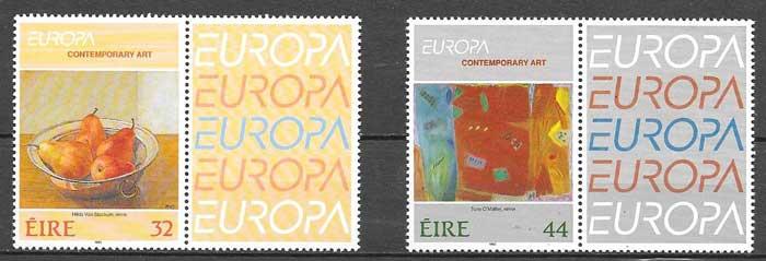 sellos colección Tema Europa Irlanda 1993