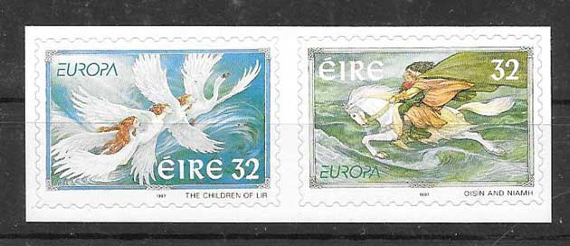 Filatelia Irlanda tema Europa 1997
