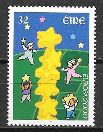 Filatelia Tema Europa Irlanda 2000