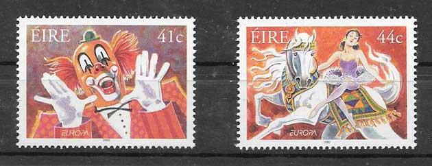Sellos Tema Europa Irlanda 2002