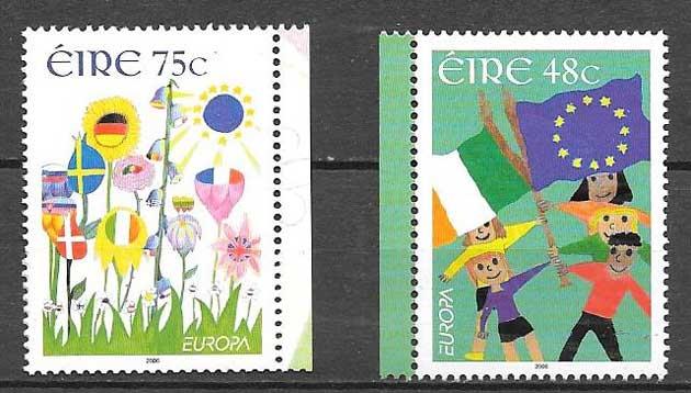 colección sellos Tema Europa Irlanda 2006