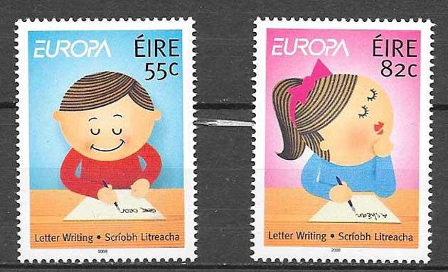 sellos colección Tema Europa Irlanda 2008