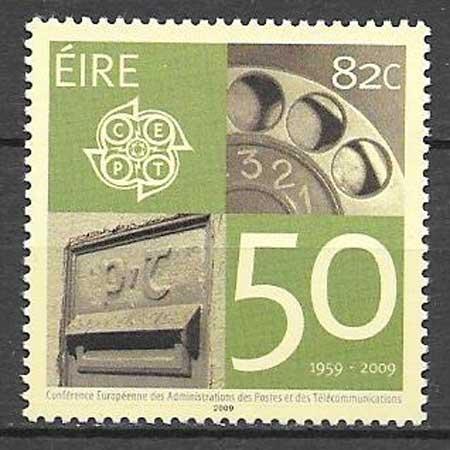 sellos cincuentenario de Europa Irlanda 2009