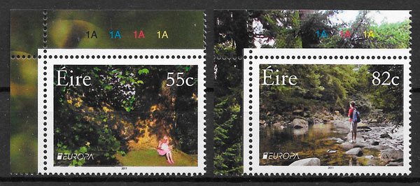 sellos Europa Irlanda 2011