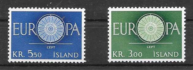 Filatelia Tema Europa Islandia 1960
