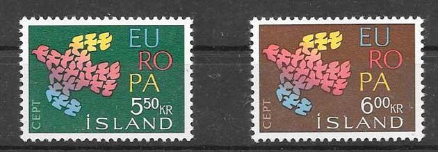 Filatelia Tema Europa 1961