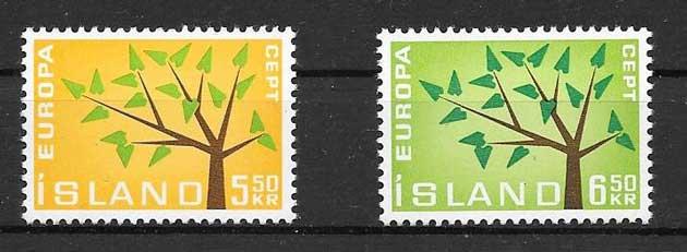 Filatelia Tema Europa 1962