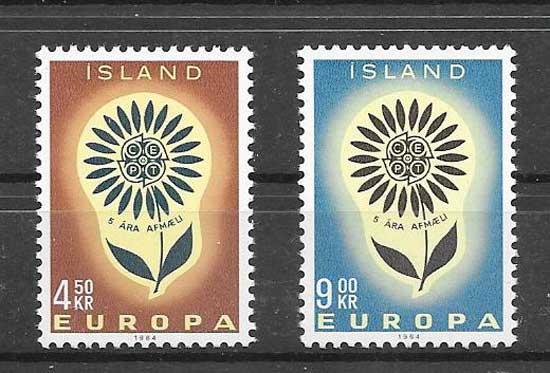 Sellos Tema Europa Islandia 1964