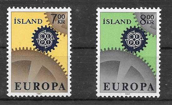 Sellos Tema Europa 1967