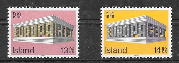 Colección de sellosTema Europa Islandia 1969