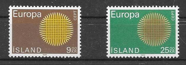 Sellos filateliaTema Europa Islandia 1970