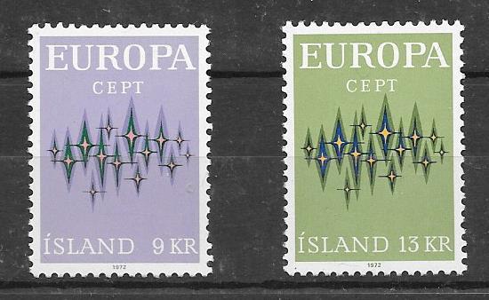 Colección de sellos Tema Europa 1972