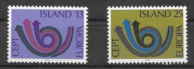 Estampillas colección Tema Europa 1973