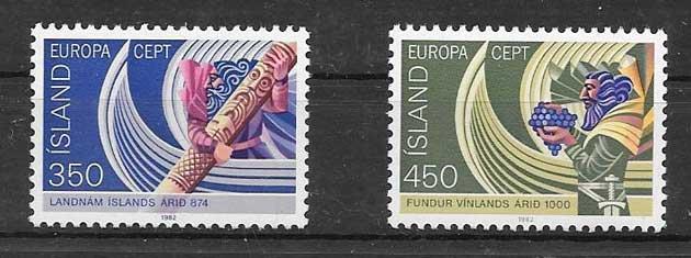 Filatelia colección Islandia 1982 Tema Europa