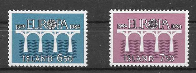 Filatelia colección Tema Europa Islandia 1984