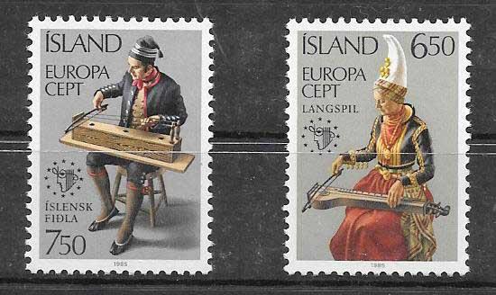 Estampillas colección Tema Europa 1985
