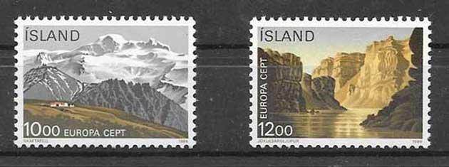 colección de sellos Tema Europa 1986