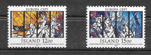 Filatelia colección Tema Europa 1987