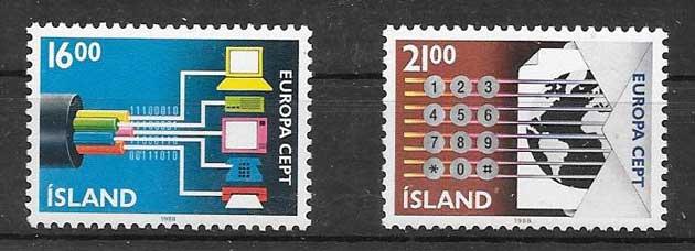 Estampillas colección Tema Europa 1988
