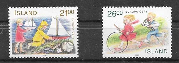 sellos Tema Europa 1989 juegos infantiles online