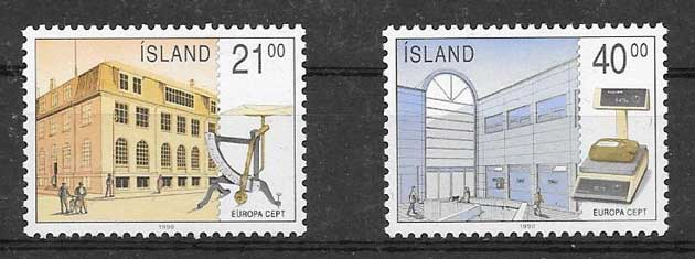 SellosTema Europa Islandia 1990