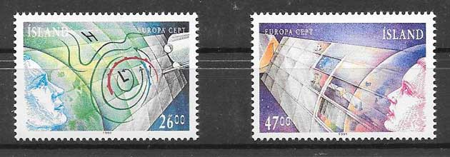 Sellos Tema Europa 1991 Islandia
