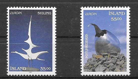 Sellos filateliaTema Europa 1993