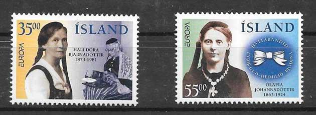 sellos colección Tema Europa Islandia 1996