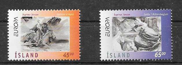Sellos Leyendas Tema Europa 1997