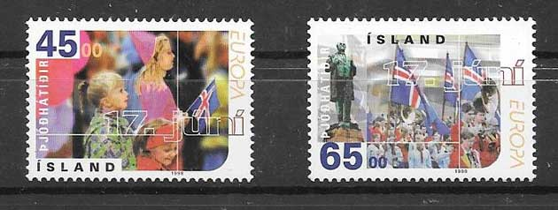 Sellos Tema Europa 1998