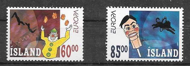 sellos Islandia Tema Europa 2002