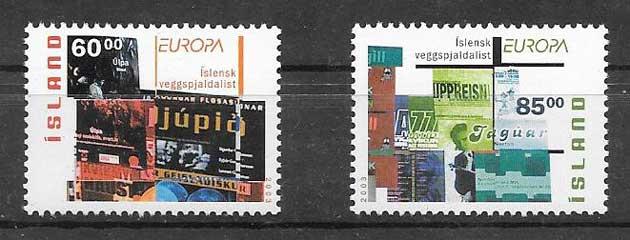 filatelia sellos Tema Europa 2003