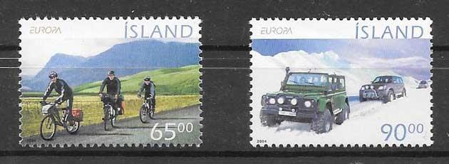 filatelia colección Tema Europa Islandia 2004
