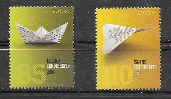 Colección sellos Islandia 2008 tema Europa