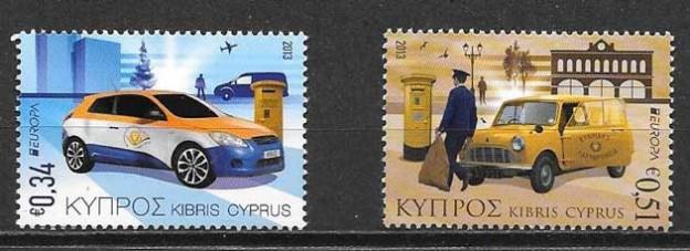 colección sellos tema Europa Chipre 2013