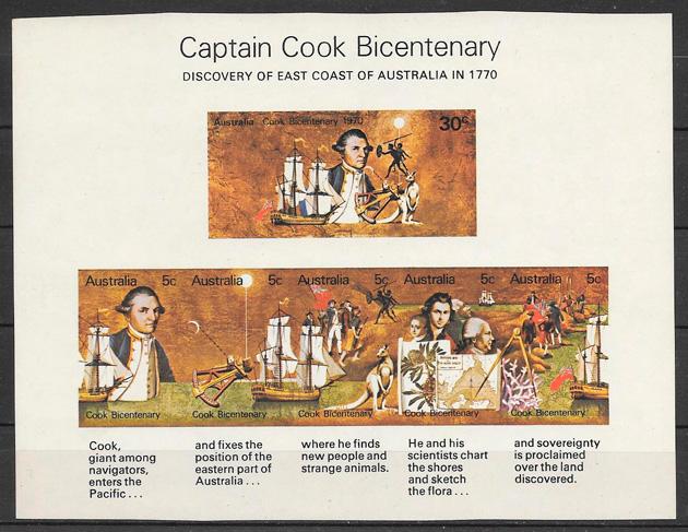 sellos personalidades Australia 1970