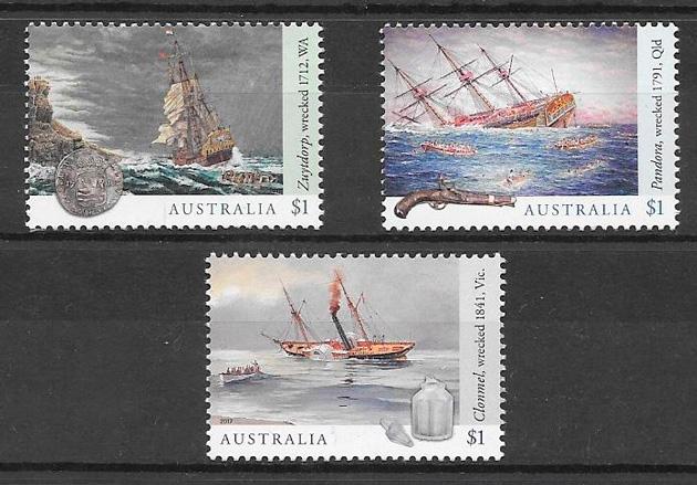 filatelia colección transporte Australia 2017