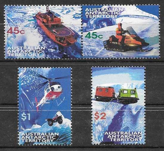 sellos transporte Autralia-Territorio Antártico 1998